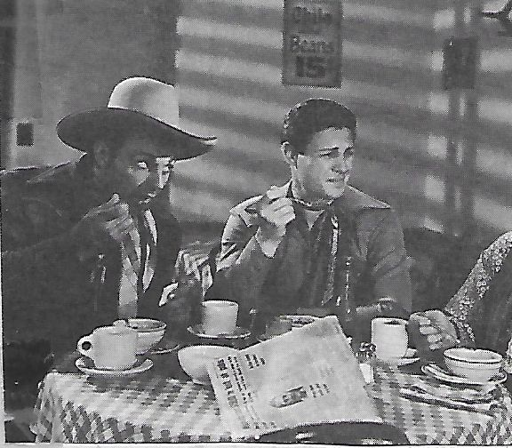 Ray Corrigan and Robert Livingston in Come on, Cowboys (1937)