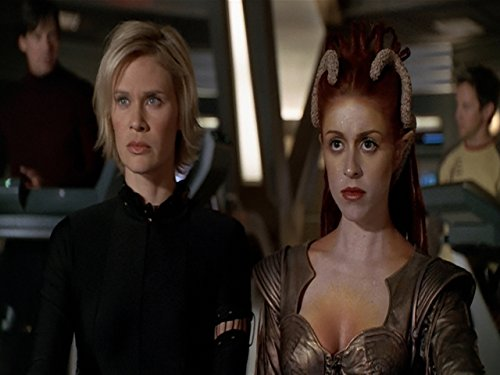 Laura Bertram and Lisa Ryder in Andromeda (2000)