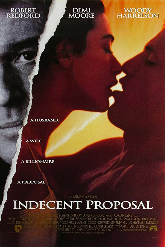 Demi Moore, Woody Harrelson, and Robert Redford in Indecent Proposal (1993)