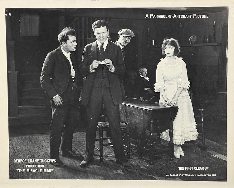 Lon Chaney, Betty Compson, Joseph J. Dowling, and Thomas Meighan in The Miracle Man (1919)