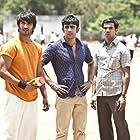 Amit Sadh, Sushant Singh Rajput, and Rajkummar Rao in Kai po che! (2013)
