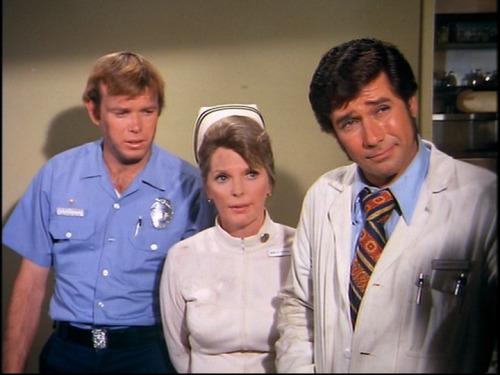 Kevin Tighe, Robert Fuller, and Julie London in Emergency! (1972)