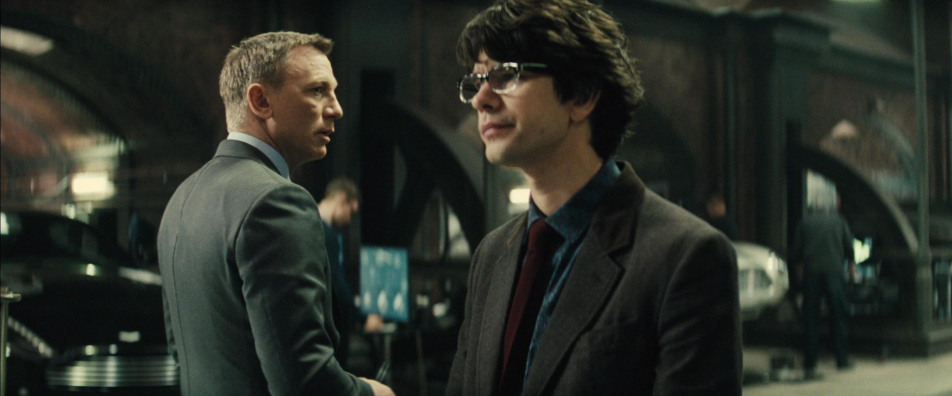 Daniel Craig and Ben Whishaw in Spectre (2015)