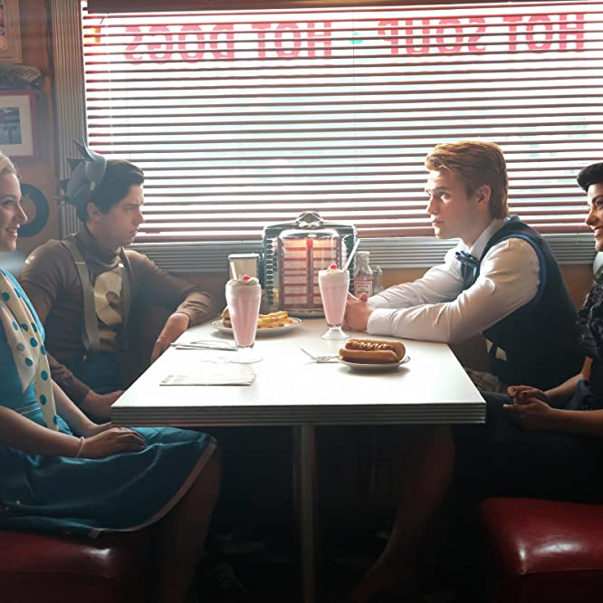 Cole Sprouse, Lili Reinhart, Camila Mendes, and K.J. Apa in Riverdale (2016)