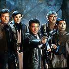 Walter Koenig, William Shatner, James Doohan, DeForest Kelley, and George Takei in Star Trek III: The Search for Spock (1984)