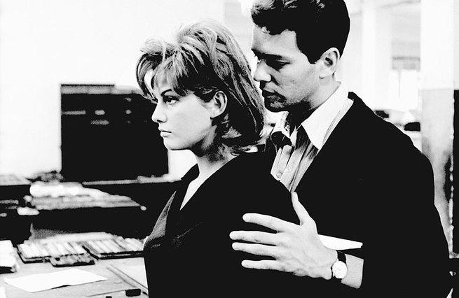 Claudia Cardinale and Marc Michel in La ragazza di Bube (1964)