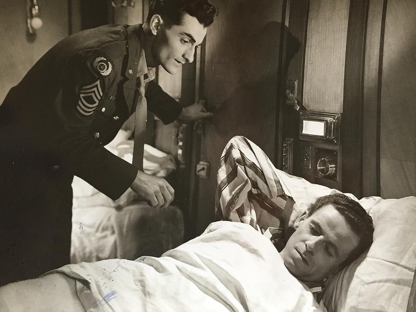 Bonar Colleano and Michael Ward in Sleeping Car to Trieste (1948)