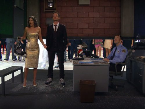 Neil Patrick Harris, Patrick Hancock, and Cobie Smulders in How I Met Your Mother (2005)