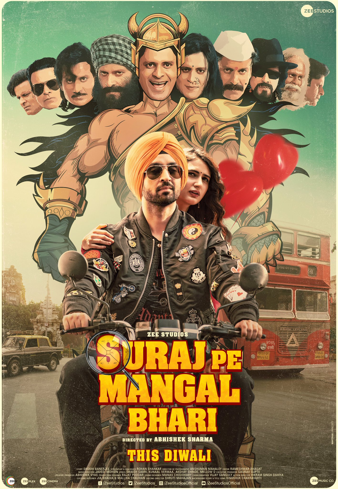 Suraj Pe Mangal Bhari 2020 Hindi Movie HDRip ESubs 400MB Download