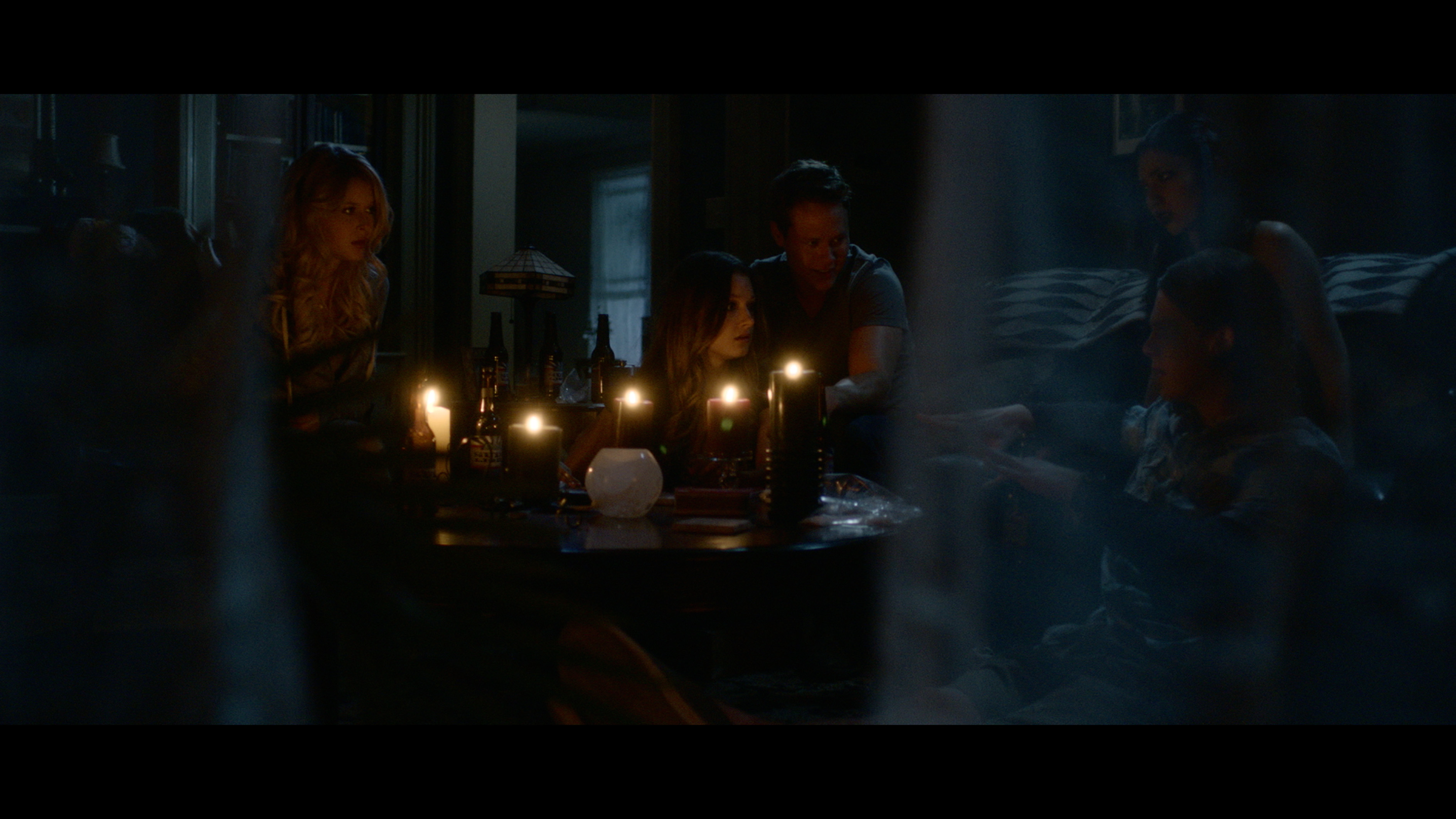 Renee Olstead, Guy Wilson, Valentina de Angelis, Spencer Daniels, and Shelby Young in The Midnight Game (2013)