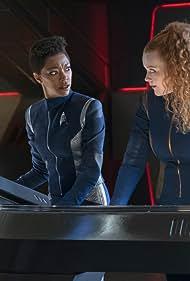 Sonequa Martin-Green and Mary Wiseman in Star Trek: Discovery (2017)