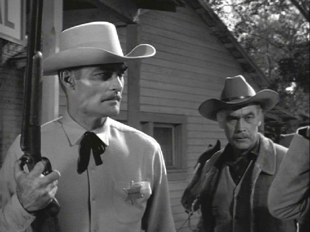 Stuart Randall and John Russell in Lawman (1958)