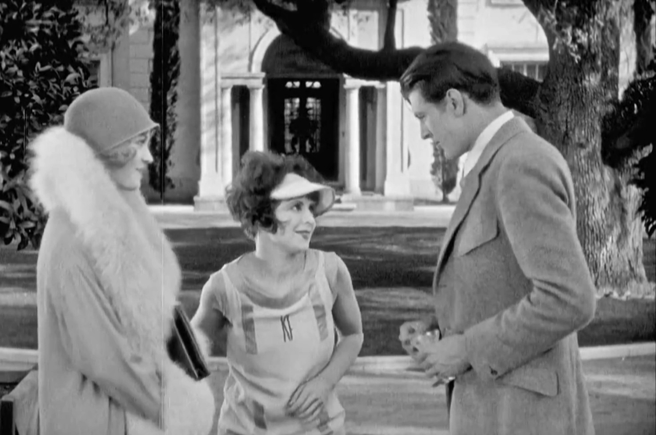 Gary Cooper, Clara Bow, and Esther Ralston in Children of Divorce (1927)