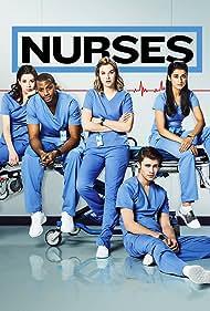 Donald MacLean Jr., Tiera Skovbye, Natasha Calis, Jordan Johnson-Hinds, and Sandy Sidhu in Nurses (2020)