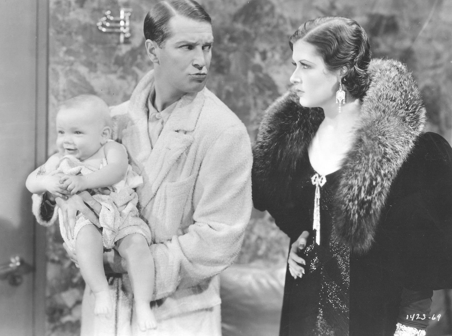 Maurice Chevalier, Baby LeRoy, and Leah Ray in A Bedtime Story (1933)