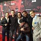 Dash Mihok, Eric Etebari, Demian Lichtenstein, Digger Mesch, Damion Poitier, Derek Ray, and Ryan Martin at an event for Payday 2 (2013)