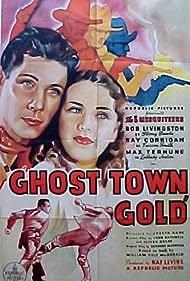 Ray Corrigan, Kay Hughes, Robert Livingston, and Max Terhune in Ghost-Town Gold (1936)