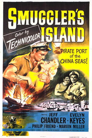 Jeff Chandler and Evelyn Keyes in Smuggler's Island (1951)