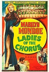 Marilyn Monroe, Rand Brooks, Eddie Garr, Marjorie Hoshelle, Adele Jergens, Dorothy Tuttle, Eve Whitney, and Judith Woodbury in Ladies of the Chorus (1948)