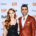 Jessica Chastain and Mourad Zaoui at an event for The Forgiven (2021)