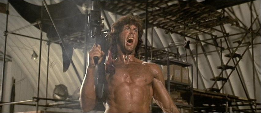 Sylvester Stallone in Rambo First Blood Part II 1985