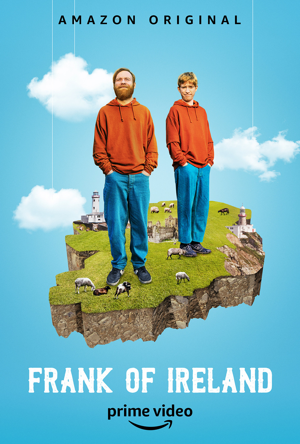 Domhnall Gleeson and Brian Gleeson in Frank of Ireland (2021)