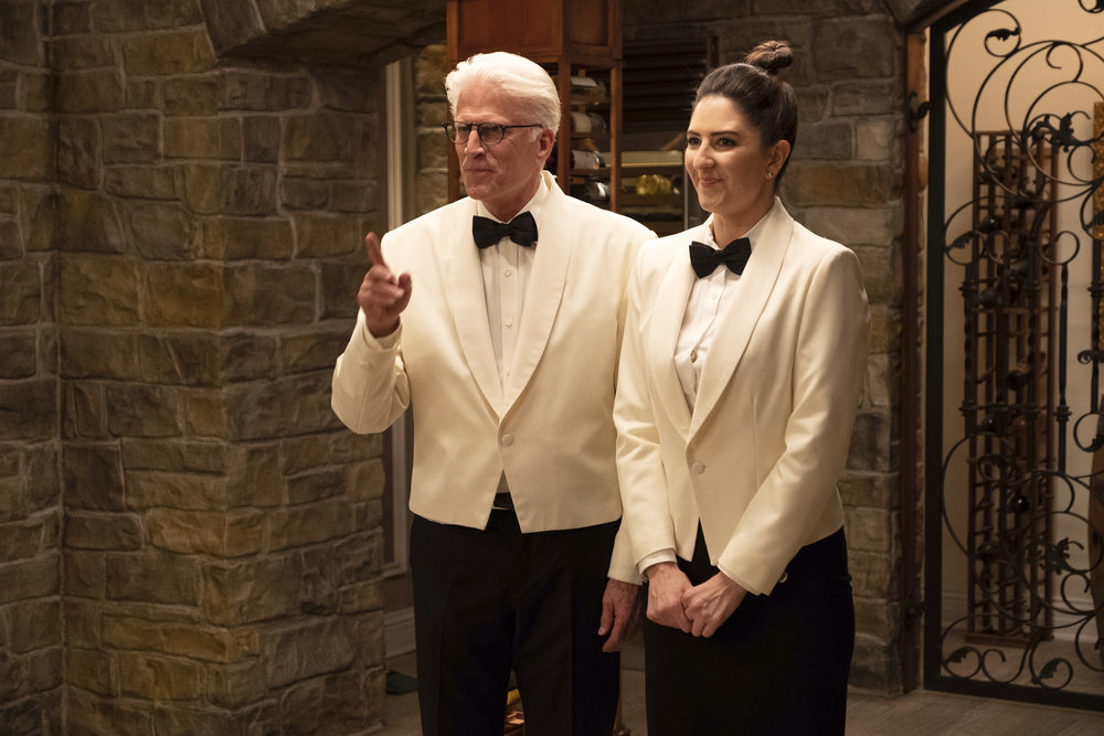Ted Danson and D'Arcy Carden in The Good Place (2016)