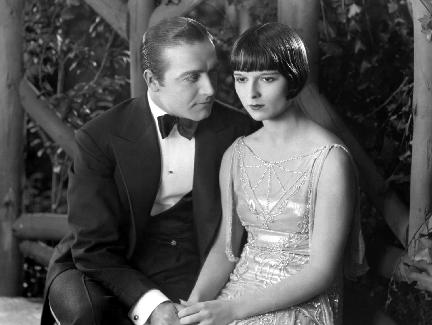 Louise Brooks and Hugh Huntley in A Social Celebrity (1926)