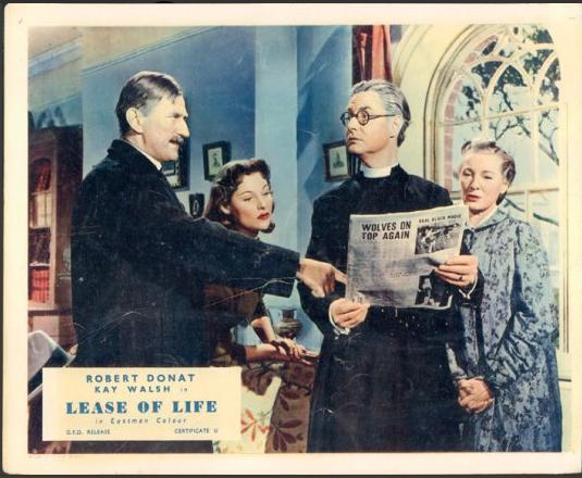 Beckett Bould, Robert Donat, Vida Hope, and Kay Walsh in Lease of Life (1954)