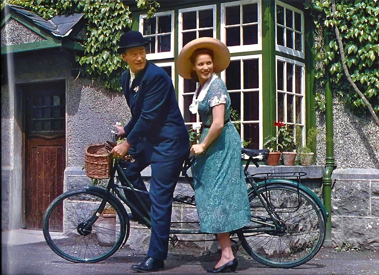 Maureen O'Hara and John Wayne in The Quiet Man (1952)