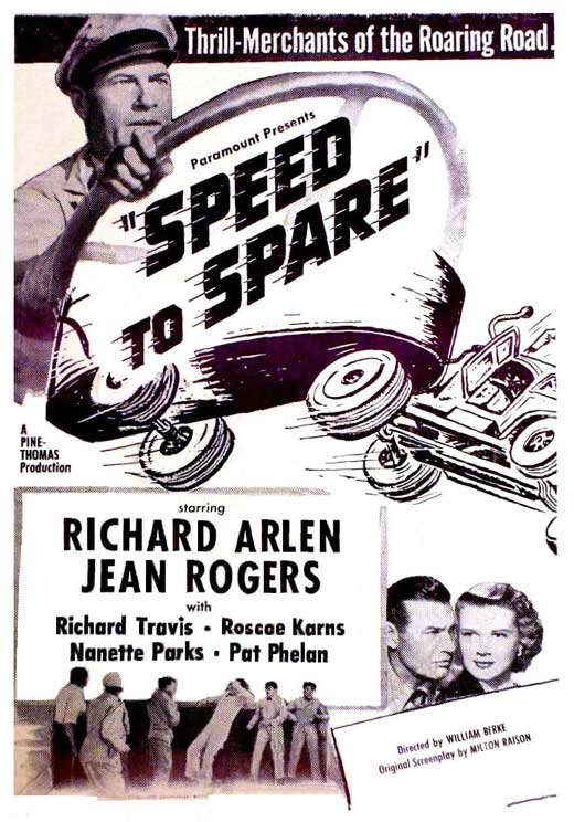 Richard Arlen and Jean Rogers in Speed to Spare (1948)
