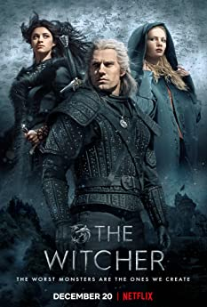 Henry Cavill, Freya Allan, and Anya Chalotra in The Witcher (2019)