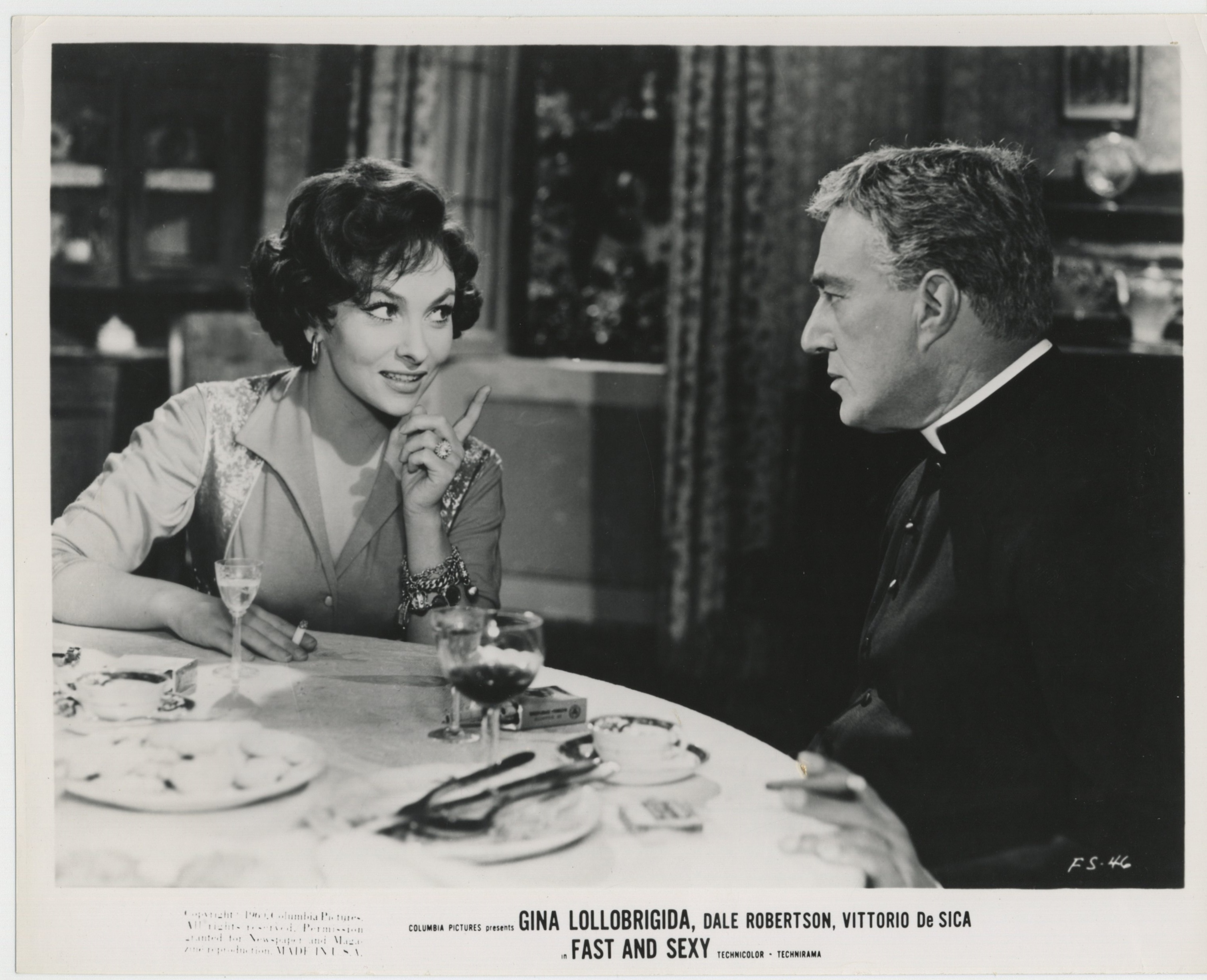 Vittorio De Sica and Gina Lollobrigida in Anna di Brooklyn (1958)