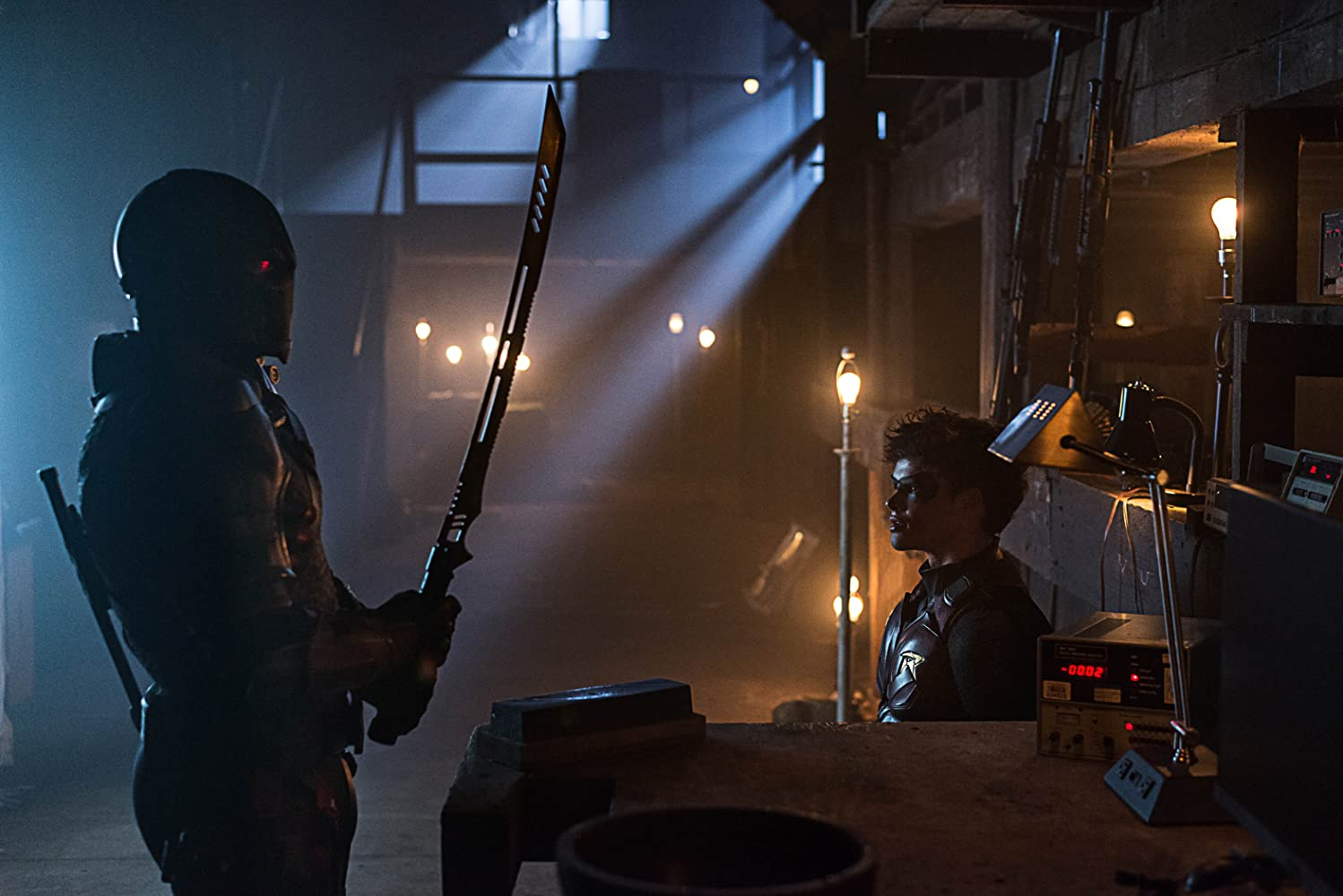 Esai Morales and Curran Walters in Titans (2018)