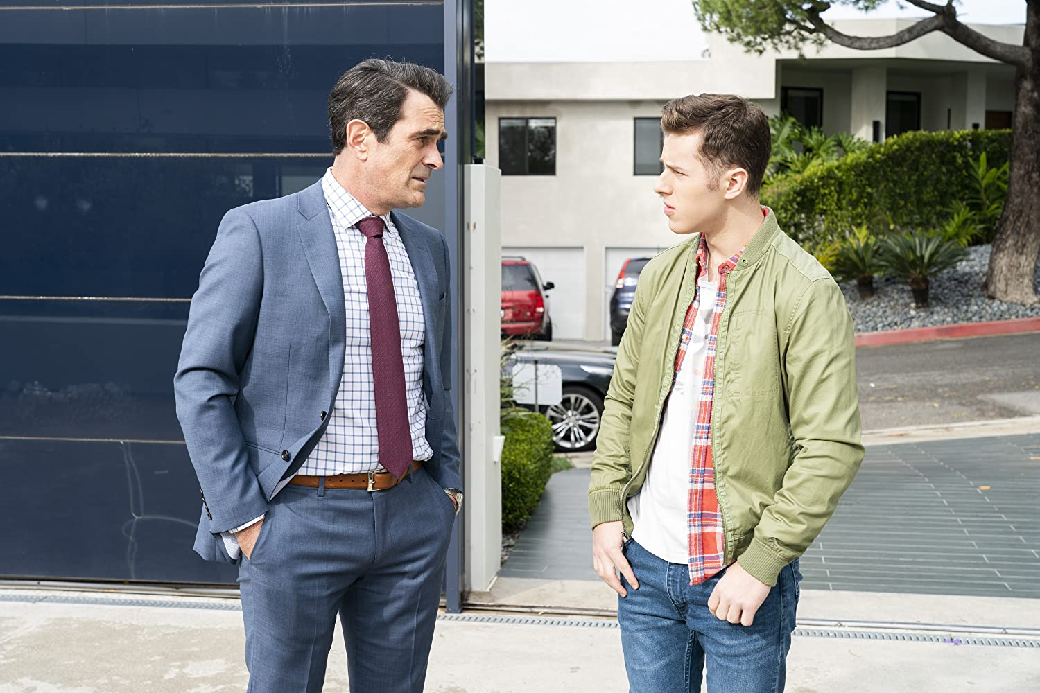 Ty Burrell and Nolan Gould in Modern Family (2009)