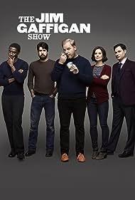 Adam Goldberg, Michael Ian Black, Jim Gaffigan, Ashley Williams, and Tongayi Chirisa in The Jim Gaffigan Show (2015)