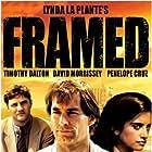 Timothy Dalton, Penélope Cruz, and David Morrissey in Framed (1992)