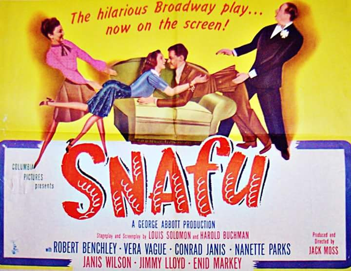 Barbara Jo Allen, Robert Benchley, Conrad Janis, and Nanette Parks in Snafu (1945)