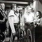 Buddy Baer, Jim Davis, Vera Ralston, and Forrest Tucker in Jubilee Trail (1954)