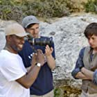 Jassa Ahluwalia on location for THE WHALE with director Alrick Riley (left) and Sundance award winning cinematographer David Raedeker (centre)