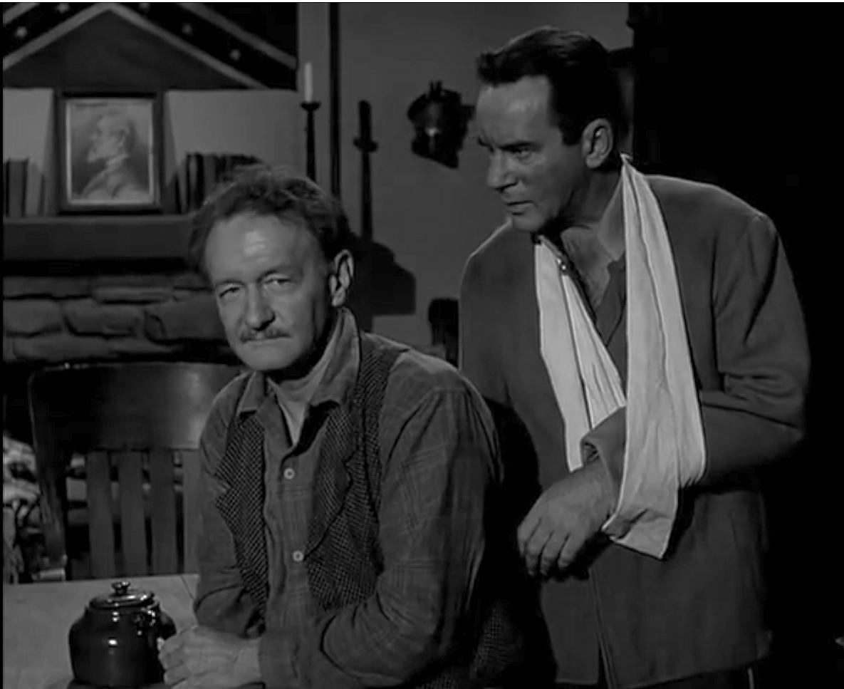 Richard Carlson and Tim Graham in Mackenzie's Raiders (1958)
