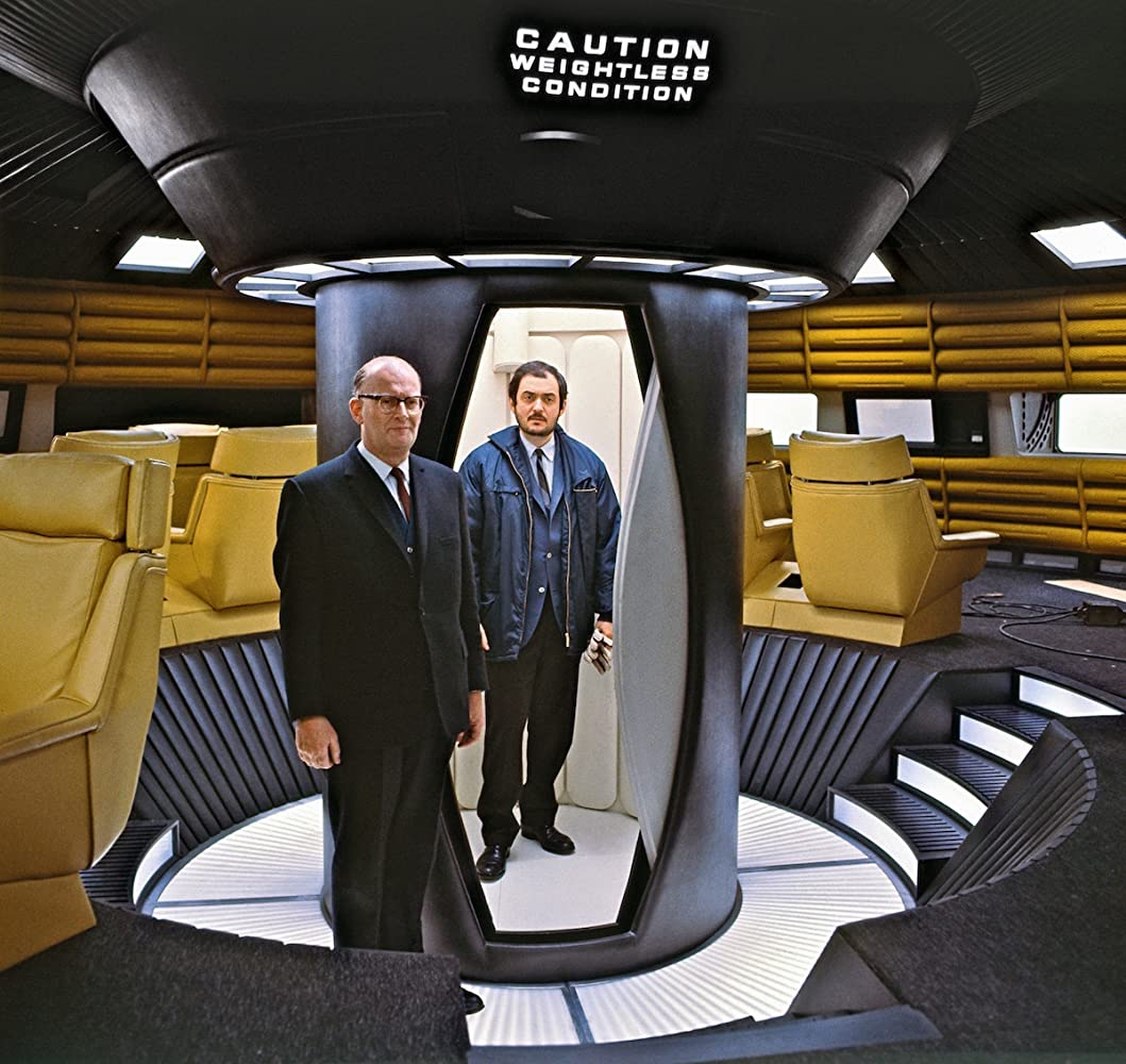 Stanley Kubrick and Arthur C Clarke in 2001 A Space Odyssey 1968