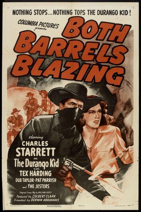 Guy Bonham, Walter Carlson, Dwight Latham, Pat Parrish, Charles Starrett, and The Jesters in Both Barrels Blazing (1945)