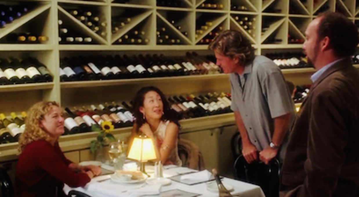 Virginia Madsen, Thomas Haden Church, Paul Giamatti, and Sandra Oh in Sideways (2004)