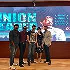 Rahul Bhatt, Mehul Buch, Vivek Ghamande, Samvedna Suwalka, and Sanjay Patel in Union Leader (2017)