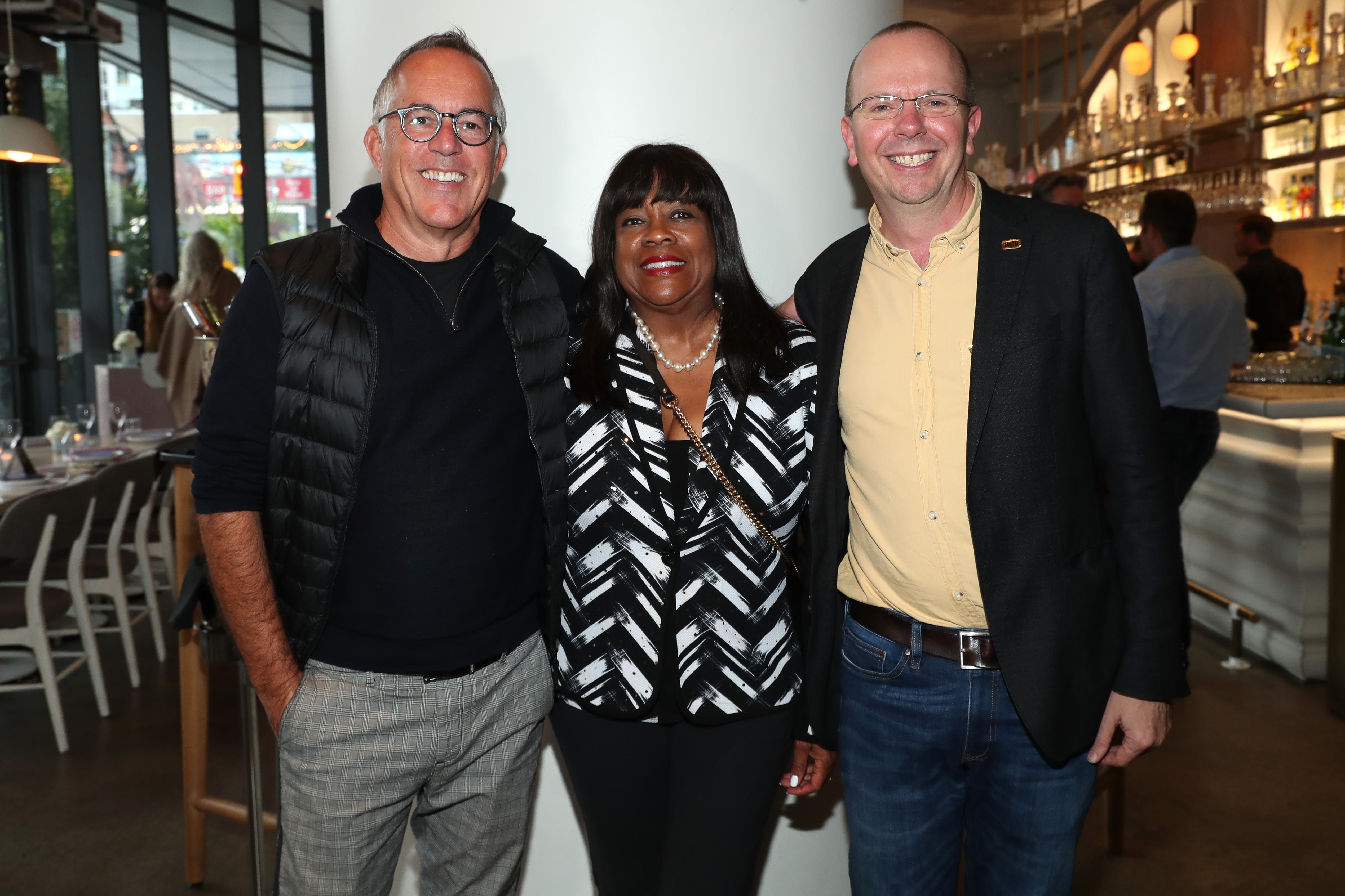 Col Needham, John Cooper, and Chaz Ebert