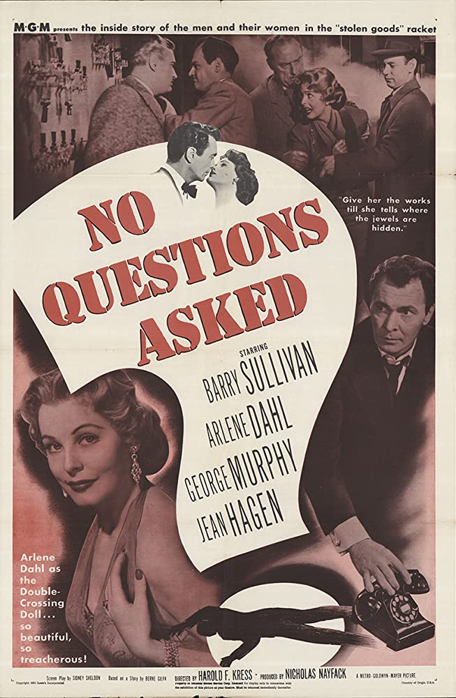 Arlene Dahl and Barry Sullivan in No Questions Asked (1951)
