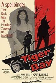 Hayley Mills, Horst Buchholz, and Shari in Tiger Bay (1959)
