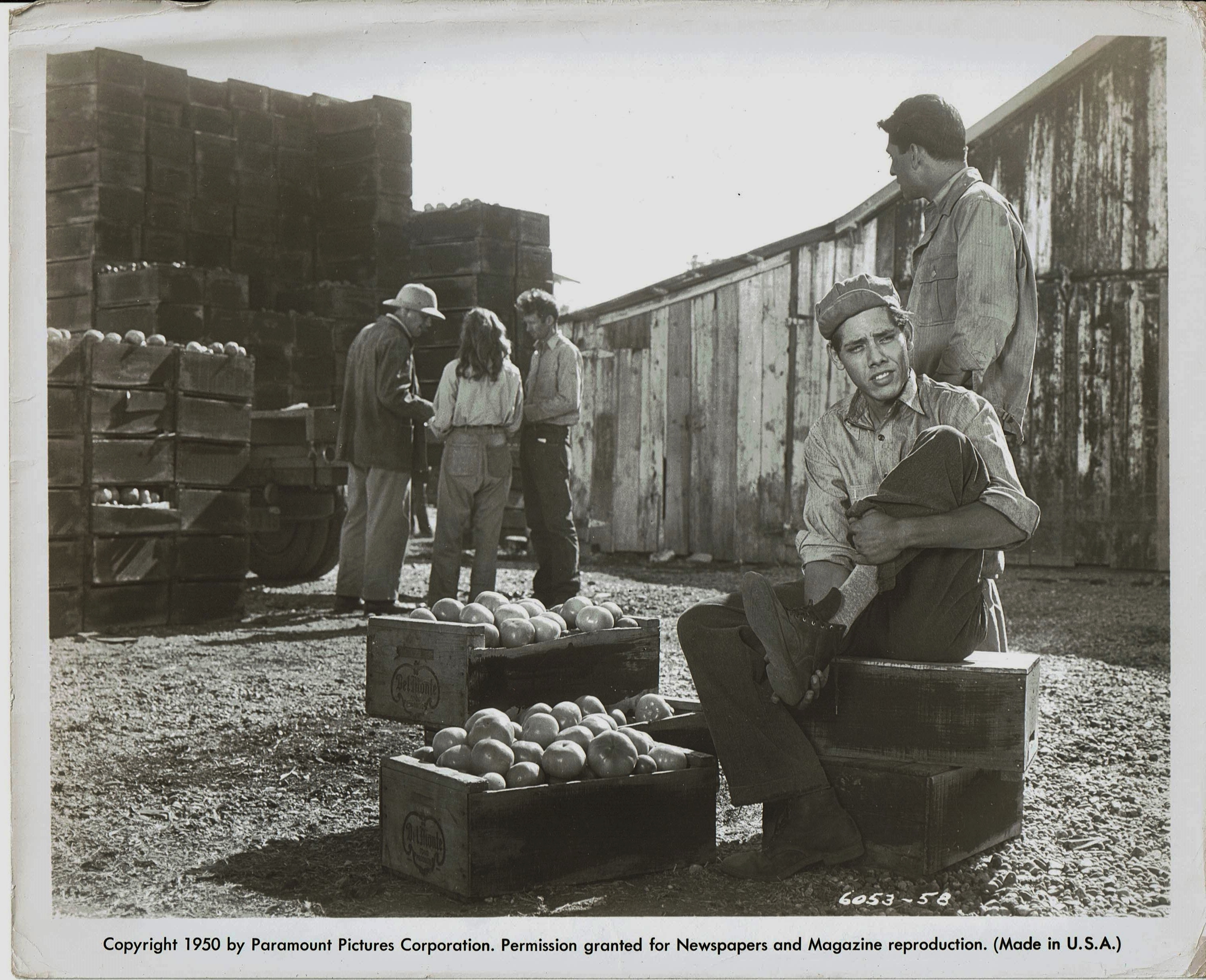 Maurice Jara and Lalo Rios in The Lawless (1950)
