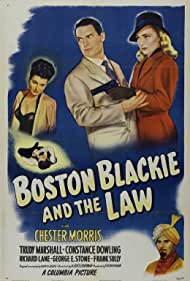 Eugene Borden, Constance Dowling, Trudy Marshall, and Chester Morris in Boston Blackie and the Law (1946)